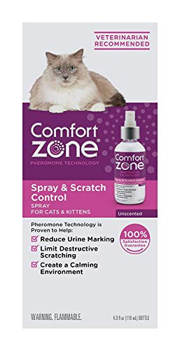 Comfort Zone Spray & Scratch Control Spray for Cat Calming Value Size, 4 ounces