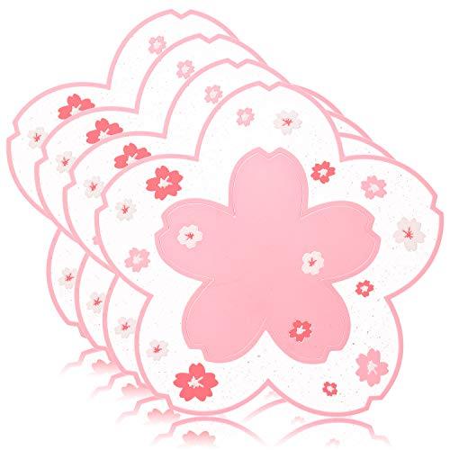 Conisy Salvamanteles de Silicona Multiusos en forma de flor,Almohadillas Resistentes al Calor...