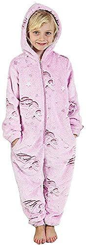 CityComfort Strampelanzug für Mädchen, leuchtet im Dunkeln, Regenbogen-Einhorn, 3/14 Jahre Gr. 13-14 Jahre, babyrosa