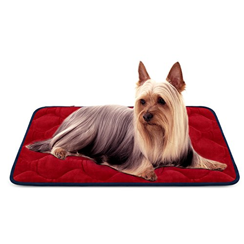 Weiche Hund Bett für Kleine Hunde Luxuriöse Hundedecken Waschbar Orthopädisch Liekissen rutschfeste Hundematte Rot S von HeroDog