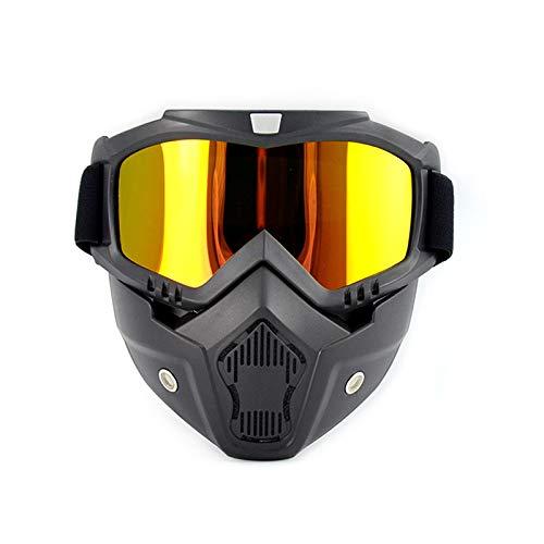 LKHF Funda para Gafas de Motocicleta para CS/Paintball/Esqu/Equitacin/Ciclismo/Halloween/Disfraz Ball-Prueba UV A Prueba de Viento Protectora antivaho, Gafas tcticas Desmontables ajus