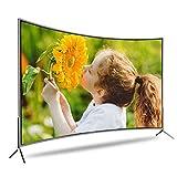 Smart TV Curvo da 32/50/55 Pollici, 720P TV LED HD di Base TV a Schermo Piatto Porte ottiche per Auricolari HDMI USB VGA Integrate - Frequenza di aggiornamento 60Hz