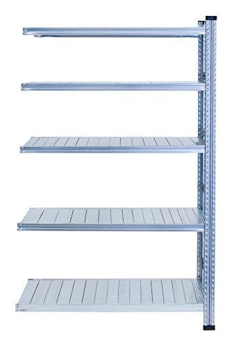Metalsistem Scaffale ad Incastro, Dimensioni 2000 x 400 x 900, 5 Livelli di Carico, Acciaio Zincato, Campata Aggiuntiva