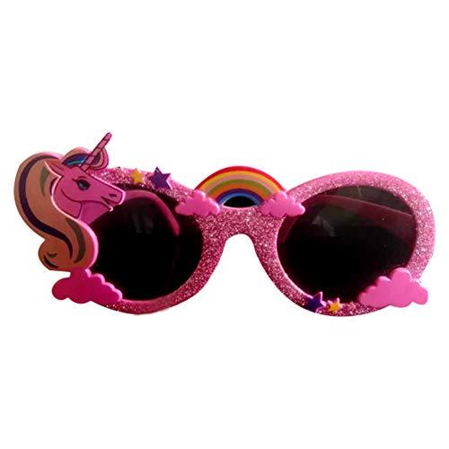 Isuper Unicornio vidrios del Partido Hawaiano de Las Lentes de Hawai Fanci-Marcos Decoración Tropical Pink Gafas de Sol
