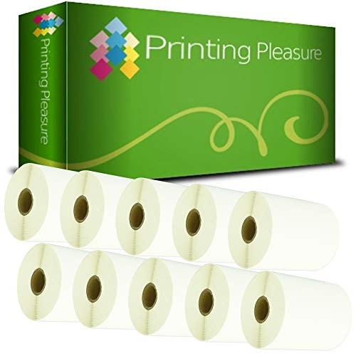 Printing Pleasure 10x Compatible Zebra 100mm x 210mm Etiquetas de impresoras (200 Etiquetas por Rollo) para Zebra, Toshiba, Citizen, Eltron, Orion, UPS