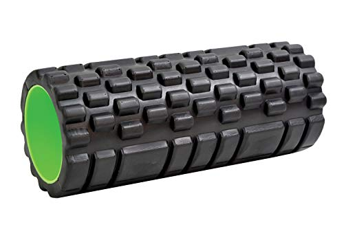 Schildkröt Fitness Myofascial Roll Massagerolle, Black/Green, STANDARD