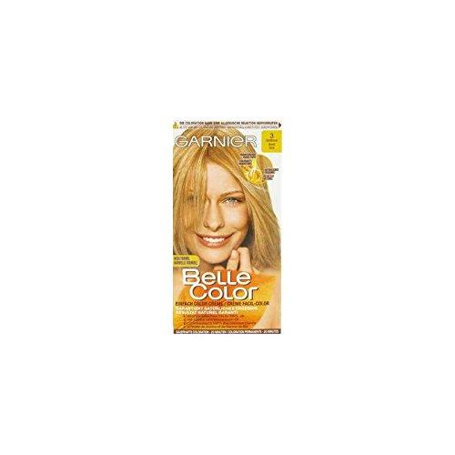 Garnier Crème facil-color, résultat naturel garanti, coloration permanente, 3 blond doré - La boîte de 115ml