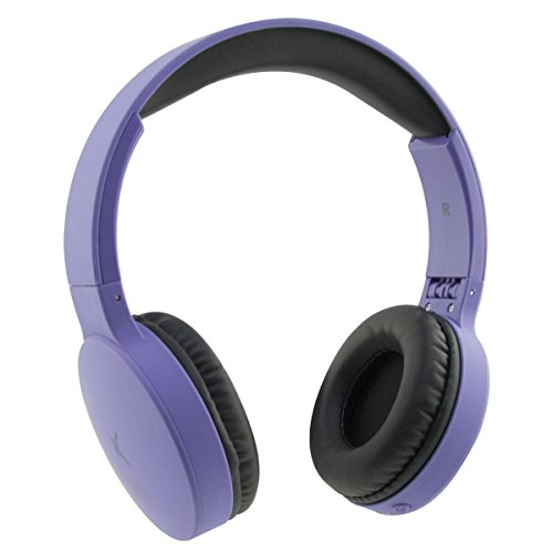Ksix Go&Play Travel - Cuffie wireless pieghevoli, Bluetooth 3.0, microfono integrato, raggio di 10 m Viola