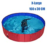 HOMIMP Foldable Dog Swimming Pool Bathing Tub - Portable Pet Paddling Pool for Dogs Cats and Children Indoors, Outdoors- XLarge