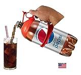 Soda Caddy - (2pk) - 2 Liter Bottle Holder Handle (2 pack - Red & Green)
