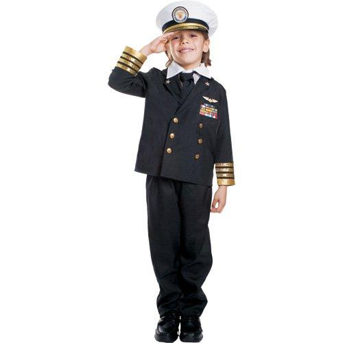 Dress Up America Disfraz de Almirante Azul Marino para niños, T2