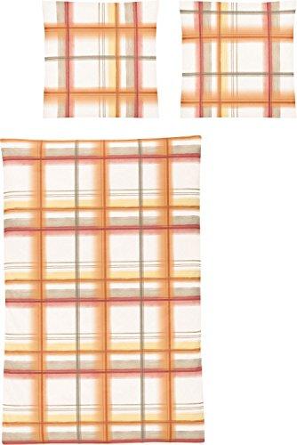 Irisette Biber Bettwäsche Davos 8630-50 1 Bettbezug 135 x 200 cm + 1 Kissenbezug 80 x 80 cm