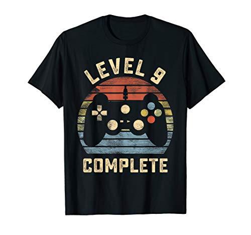 Level 9 Complete Vintage T-Shirt Celebrate 9th Wedding T-Shirt