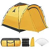 Kshzmoto Pop Up Camping Zelte für 3 Personen,Kuppelzeltdach mit 80 cm Vorraum zum Wandern im...