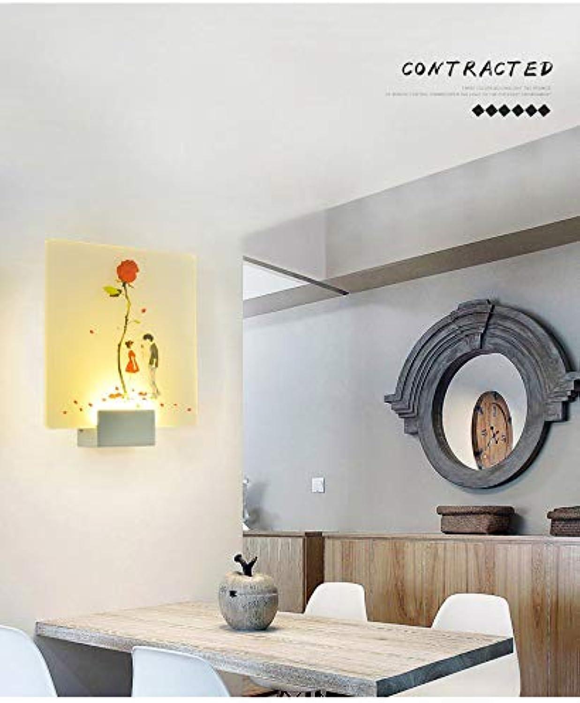 Wandleuchte Led Moderne Einfache Acryl-Wand-Lampe Wohnzimmer-Nachtzimmer-Lampe Gang Korridor Dekoration Tri-Farbe Dimming 7W-Beleuchtungseinrichtungen 25  27.5Cm D