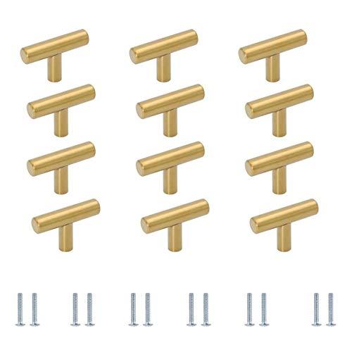 12 Piezas Pomos y Tiradores de Muebles en Forma de T Tiradores Cajones Pomos para Puertas/Armarios de Cocina/Cajones de Comodas Antiguos