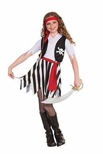 Forum Novelties Little Lady Buccaneer Costume, Child Large