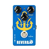 Reverb Guitar Effect Pedal - Caline CP98 Acoustic Guitar Electric Effects Pedal Reverb Delay Digital Analogy Multi Distortions True Bypass Black