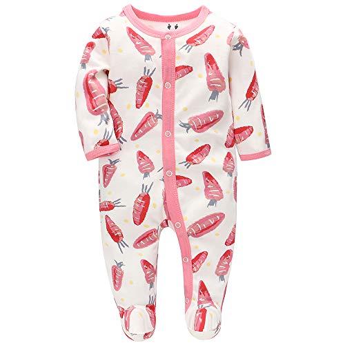 Pijama para Bebé Recién Nacido de 0-6 Meses (Carota, 62)