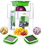 Vegetable Chopper for Onion, Potato, Veggie And Fruits – French Fry Cutter, Potato Cutter (Green)