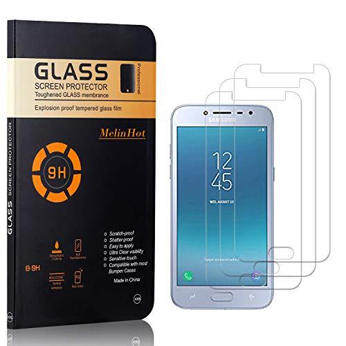 MelinHot Displayschutzfolie für Galaxy J2 Pro 2018, Anti Kratzen, Keine Luftblasen, Ultra Dünn 9H Schutzfolie aus Gehärtetem Glas für Samsung Galaxy J2 Pro 2018, 3 Stück