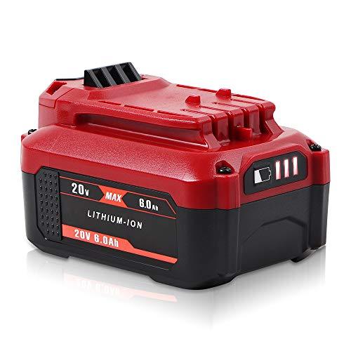 Jialitt 6.0Ah 20V Replacement Battery for Craftsman V20 Cordless Power Tool V20 Lithium Battery CMCB202 CMCB204 CMCB205 CMCB206 Cordless Battery