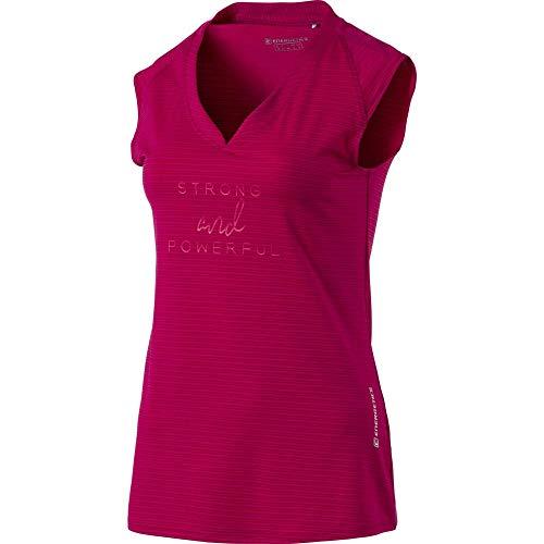 ENERGETICS Damen Galia T-Shirt, Red Wine, 40
