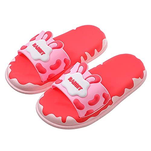 Y-PLAND Zapatillas para niños y niñas, sandalias antideslizantes para playa, verano, zapatos de ducha, rosa, 26 – 27 yardas (16 cm de longitud)