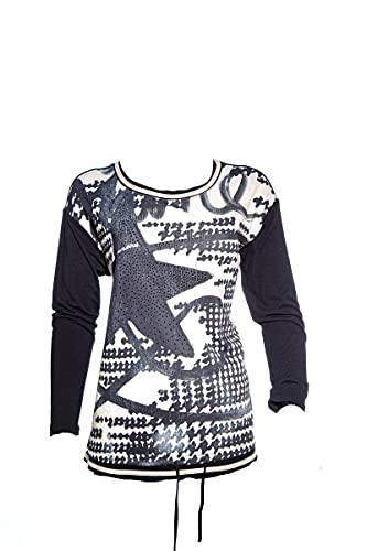 BARBARA LEBEK Camiseta de manga larga con tejido liso en la parte...