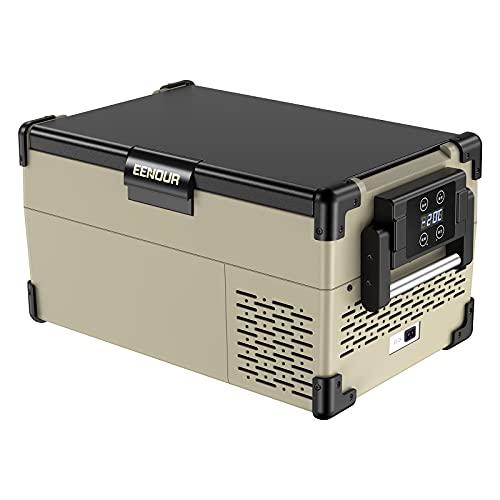 EENOUR 車載冷蔵庫 25L -20℃~10℃ コンプレッサー式 3WAY電源対応 AC100V DC12V/24V ポータブル冷蔵庫 急速...