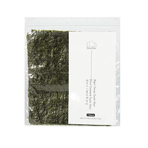 Emma Basic Getrockneter Seetang, Sushi, Nori, 7 volle Blätter | Jung & Frisch | Hoher Proteinanteil | Hoher Ballaststoffanteil|