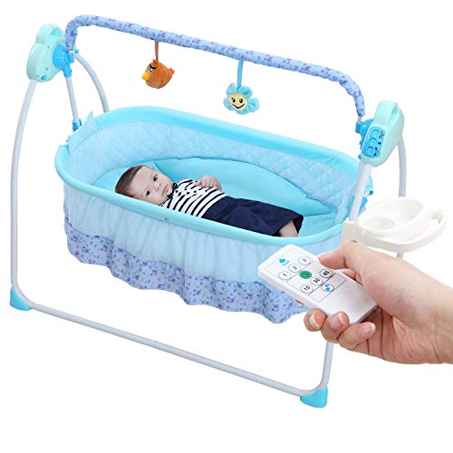 WBPINE Baby Cradle Swing, Automatic Baby Bassinets Swing...