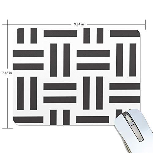 MONTOJ Gaming Mauspad Black Equal Signs Muster Computer Tastatur Mauspad, wasserabweisend, rutschfeste Unterseite, ideal für Gaming und Arbeiten