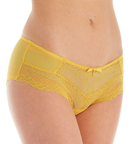 Gossard Women's Superboost Lace Short, Yellow (Spicy Mustard), Small