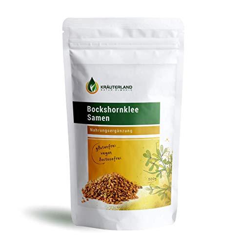 Kräuterland Bockshornklee Samen, 100% rein, 500g, Premiumqualität, griechisches Heu, indisch Kochen (500g)