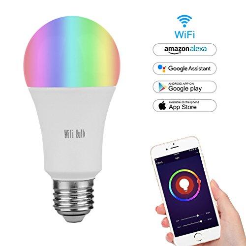 pas cher un bon Connexion MARRYME Lampe LED Wi-Fi E27.7W Lampe de télécommande pour smartphone équivalente à 65W…
