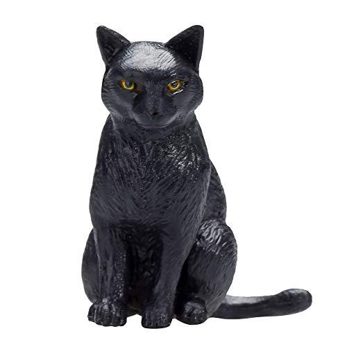 MOJO Cat Sitting Black Toy Figu
