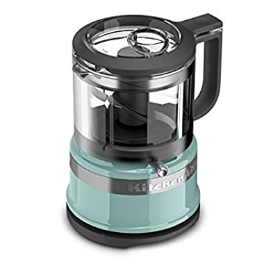 KitchenAid KFC3516AQ 3.5 Cup Mini Food Processor, Aqua Sky Blue