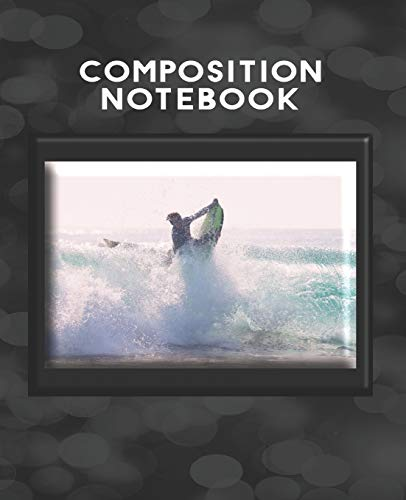 Composition Notebook: Surfboard Writing Paper Surfer Homework Academic Journal  Wide Ruled