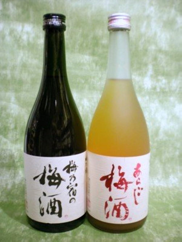 気がついて落ち着いて別れる梅酒 飲み比べセット 梅乃宿の梅酒 あらごし梅酒 各720ml 梅乃宿酒造