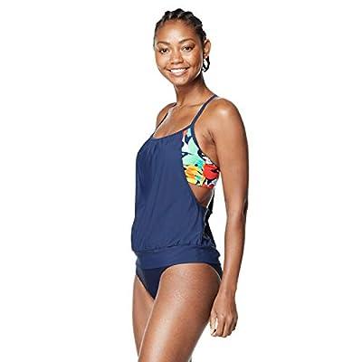 Speedo Women's Swimsuit Top Tankini Blouson Peacoat, Large
