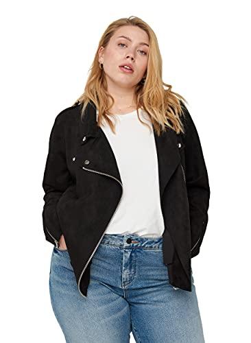 Zizzi Große Größen Damen Jacke aus Kunstleder Gr 42-60