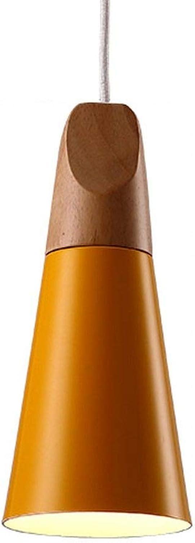 Chandeliers Einfache Kronleuchter Nacht Schlafzimmer Cafe Restaurant Kreative moderne Single Head Kronleuchter RNGNB (Farbe   Orange)