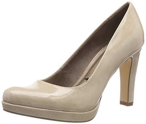 Tamaris Damen 22426 Pumps, Beige (Cream Patent 450), 38 EU