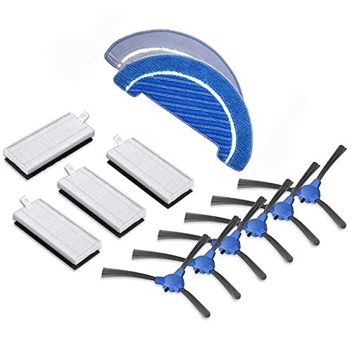 Kit de reparación de cepillo lateral, filtro y trapeador para accesorios de aspiradora Robot Conga 1090