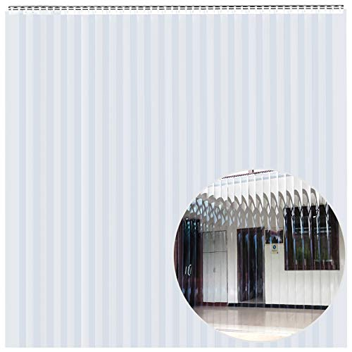 Standard smooth 8 in 5 ft width X 84 in. 7 ft height 60 in. Hardware included strips with 50/% overlap common door kit Strip-Curtains.com: Strip Door Curtain