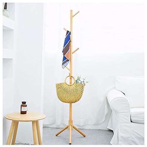 NIUZIMU kapstok, staande garderobestandaard van massief eikenhout mantel hoed paraplu vloerstandaard prestige-kledingstandaard Hall Trees -123