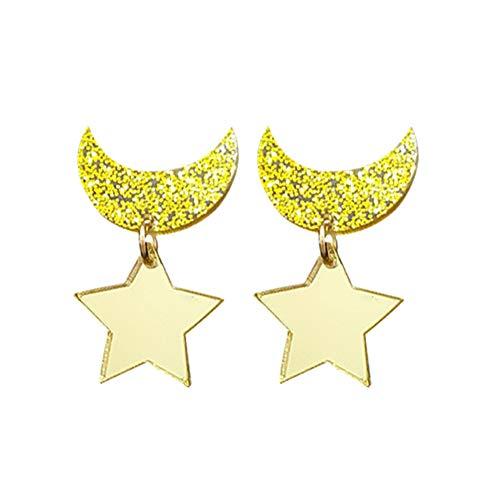 Ailin Online Sailor Moon Crescent Moon Star Ear Stud Anime Cosplay pendiente gota para mujeres niñas mejor regalo de joyería