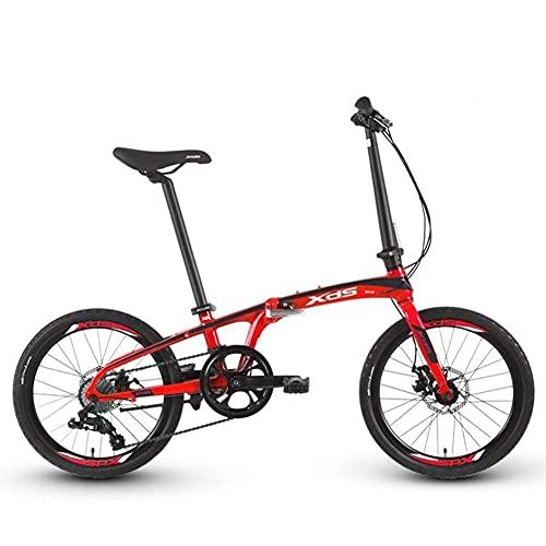 JUUY Deporte Bicicleta Plegable 20 Pulgadas Aleación de Aluminio Bicicleta Plegable de 8 velocidades Velocidad Variable Z3 Mini Mini liviano Hombres y Mujeres Ciclismo de Bicicleta.