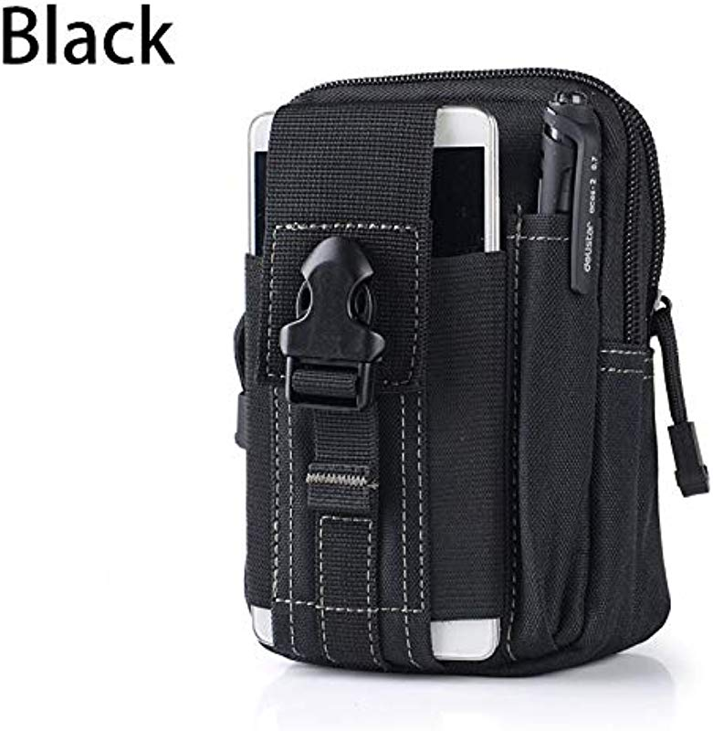 Moonnight Store Men Tactical Outdoor Camping Bags Tactical Molle Pouch Belt Waist Bag Military Waist Pack Running Pouch Travel Wallet Backpack Black